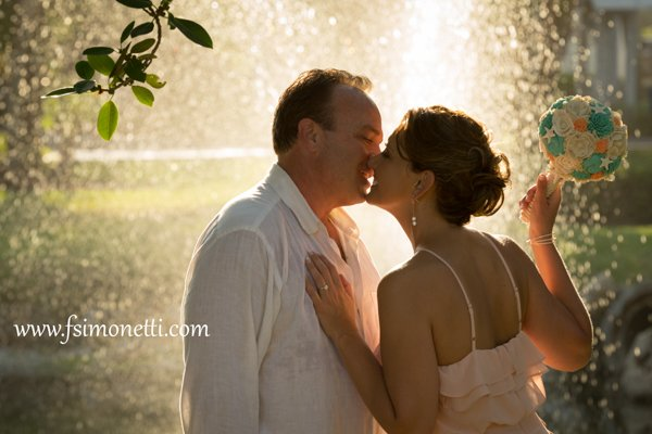 couple at their intimate wedding on Sanibel Island