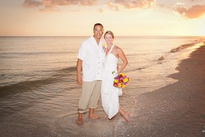 Rico and Susanne at their wedding on sanibel island