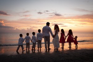 vow renewal with children on Captiva Island