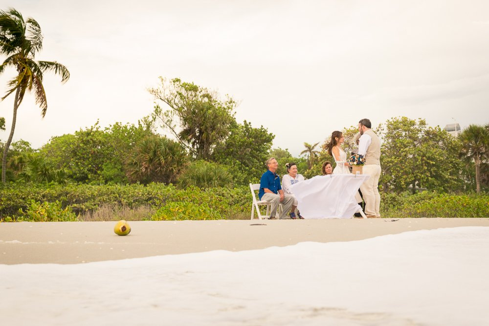 intimate wedding ceremony on Sanibel Island secluded beach