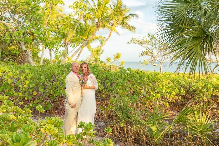 couple enjoy Sanibel Island for their intimate wedding
