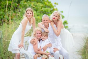 family photo after vow renewal ceremony