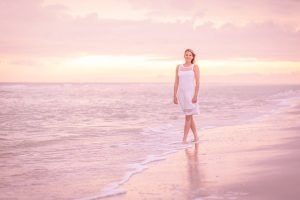 woman portrait on Sanibel beach