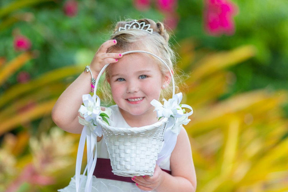 flower girl with her basket of flowers