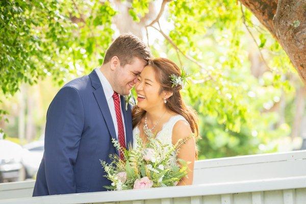 Joy at wedding couples' morning ceremony
