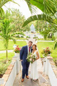 wedding couple enter the Thistle Lodge for celebration dinner