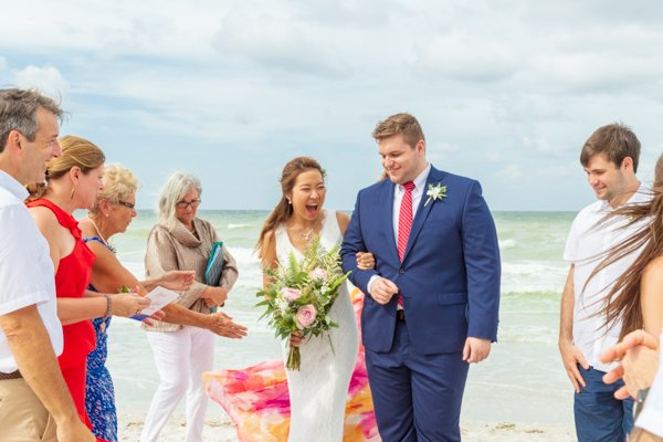 Couple are pronounced married on Sanibel beach