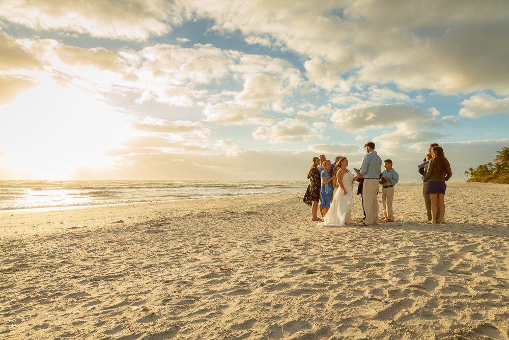 Sanibel beach wedding photo