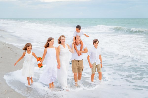 vow renewal with children