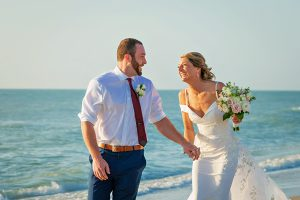 wedding couple on Captiva beach