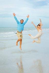 happy couple at Sanibel Island beach