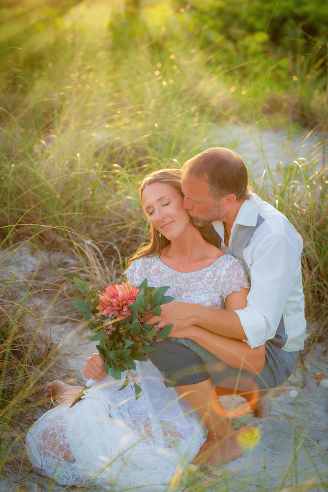 Intimate wedding on Sanibel Island
