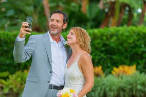 taking a selfie at elopement