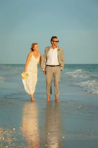 wedding couple on Sanibel Island beach
