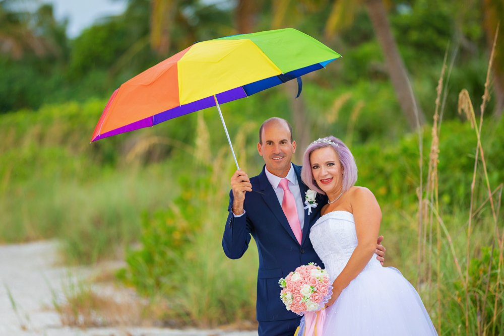 bride and groom marry on Sanibel