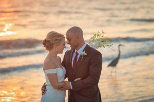 wedding couple on Sanibel Island beach