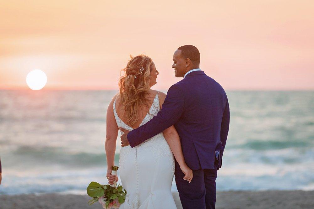 Sunset elopement on Sanibel Island